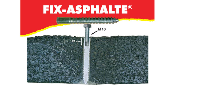 Fixation fix-asphalte