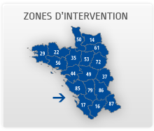 Zones d'intervention